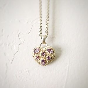 Jewelry - 🆕 Listing!  Boutique | Sterling Amethyst Heart